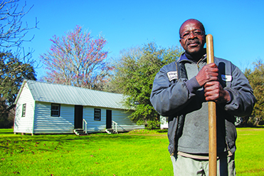 Isaac Leach lived in the old slave quarters at Magnolia Plantation as a child.