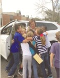Charleston County Teacher of the Year winner Lisa Trott won a 1-year lease from Volvo of Charleston as well as 250 from Heritage Trust Federal Credit Union