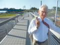 Charleston mayor Joseph P. Riley stands at the new Northbridge Park in West Ashley.