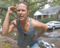 Byrnes Downs resident Sarah Braswell and others are getting frustrated with the flodding issues in front of their homes on Savannah Highway.