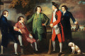 Arthur Middleton is shown standing on the far right in Benjamin West's 1764 painting, The Cricketeers.