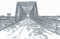"This graphic of the ""New Bridge"" was featured in the 1889 publication of the Charleston Bridge Company entitled ""A Little History of St. Andrew's  Parish and its Adaptability to Early Truck Farming, Dairy Farming, Stock Raising, and Other Purposes""."