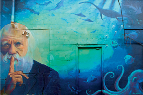 Sean William's mural behind the shops on Savannah Highway in Avondale is one of the most recognized pieces of West Ashley art.