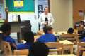 MUSC pharmacy resident Samantha Sandolfa spoke to about 20 students at Advanced Studies Magnet West Ashley