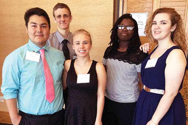 This year's team members include Ariel Salazar, Sean Soda, Hallie Sanders, Brazil Murry, and Hope Rutherford.