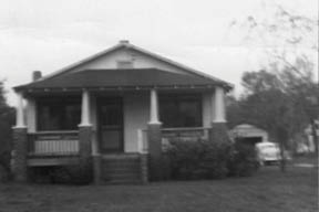The first home James Woodrow McDonald built on Pierpont Avenue.  (Photograph courtesy of Maggie McDonald Moody)