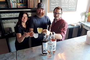 Jessica Krofta, Kris Kincaid, and Lewis Dodson just opened Cannon Distillery on Savannah Highway