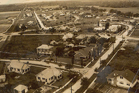On May 5, 1935, someone climbed the water tower that was built to service the Windermere neighborhood and snapped this picture.  Once water service was provided to St. Andrew's Parish the water tower was no longer needed and was disassembled. (Photograph courtesy of Carolee Williams)