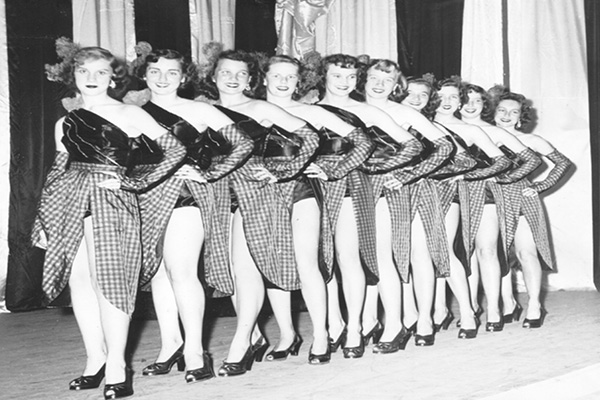 """The chorus line from the  1954 production """"Great Day""""  (Photograph courtesy of Barbara Blank Gilchrist)"""